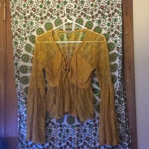 Laced hippie blouse